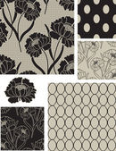 Classic Peony Floral Lace Vector Seamless Patterns Use as fills digital paper or print off onto fabric to create unique items