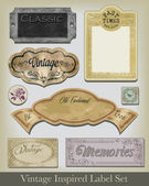 Vintage Inspired label set Use to create digital paper elements for scrap booking or print off onto sticker sheets to add embelishment to existing items
