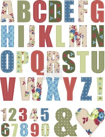 Floral Vector Pattern Alphabet Letter Set