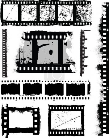 Grunge Inspired Film Strips and Elements