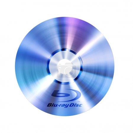 Foto de Disco bluray con logotipo, aislado - Imagen libre de derechos