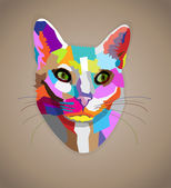Pop art colorful cat