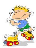 Roller skate kid - illustration