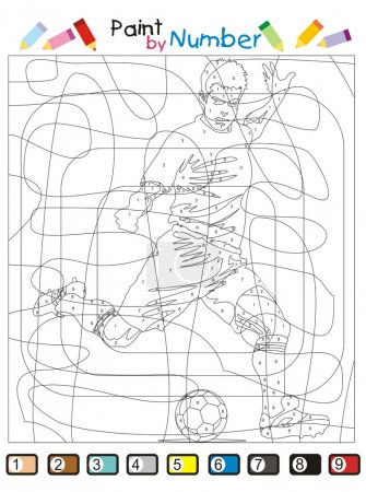 Paint by number - The Soccer player