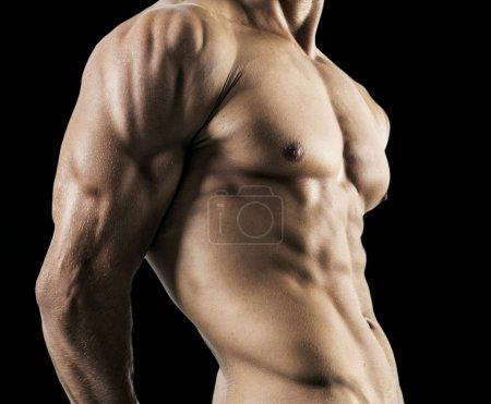 Half naked sexy body