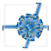 Dovolená pozadí s lukem modré dárky a dárkové krabice