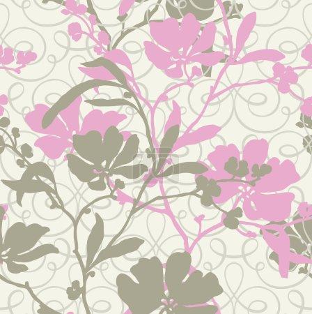 Floral illustration in vintage style