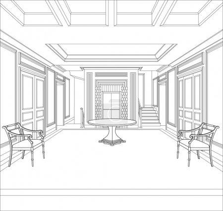 3D Dibujo gráfico interior