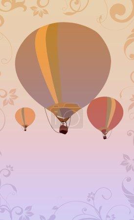 Hot air ballon background