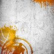 Abstract color basketball and streetball poster or...