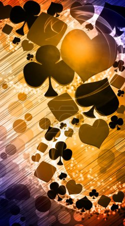 Photo pour Résumé casino et poker invitation annonce arrière-plan avec espace vide - image libre de droit