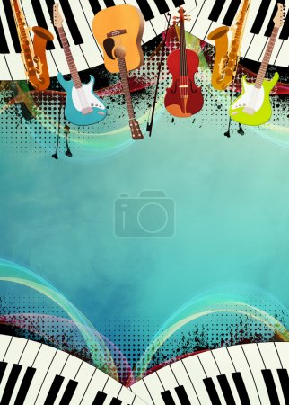 Photo for Abstract music night or concert invitation advert background with empty space - Royalty Free Image