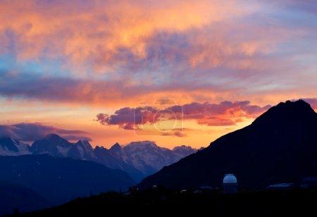 Sundown in mountain.