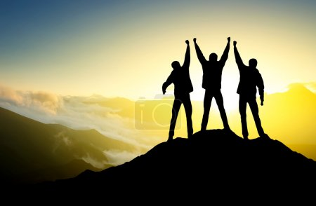 Photo for Silhouette of people against sky background - Royalty Free Image
