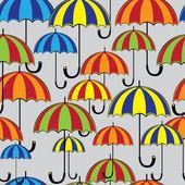 Seamless pattern colored umbrella