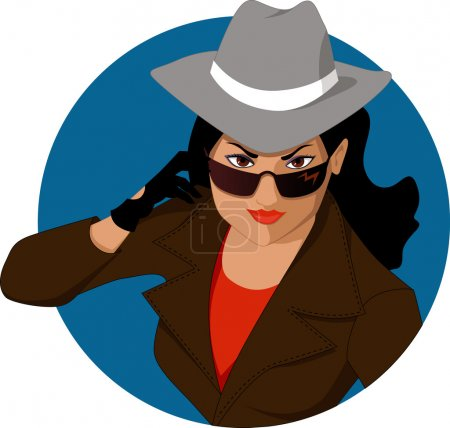 Female secret agent