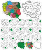 Poland Province Borders - Layers ON or OFF