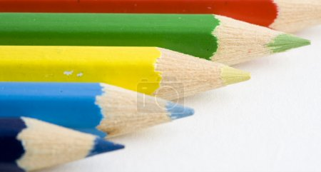 Pattern of colored pencils