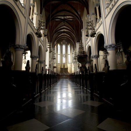 Interior of the Jakarta Cathedral, a Roman Catholi...