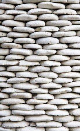 Photo pour Batu : Décoration balinaise en pierre de galets - image libre de droit