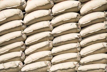 Photo for Stack of cement bags in Sunda Kelapa, Jakarta - Royalty Free Image