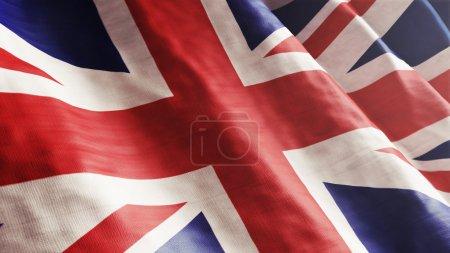 Photo pour Haute résolution anglais drapeau qui coule avec le détail de tissu texture. - image libre de droit