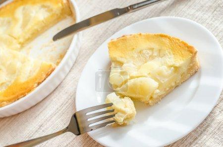 Photo pour Gâteau au fromage à l'ananas - image libre de droit