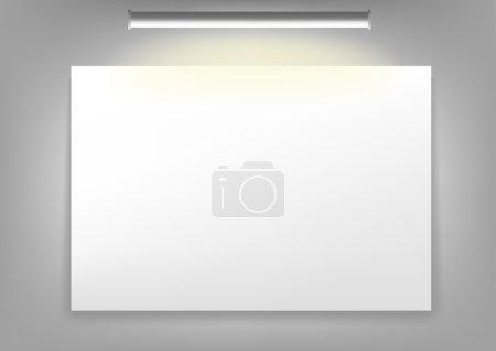 Photo pour Toile blanche accrochée au mur - image libre de droit