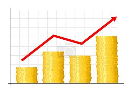 Illustration pour Graphique de croissance des entreprises - image libre de droit