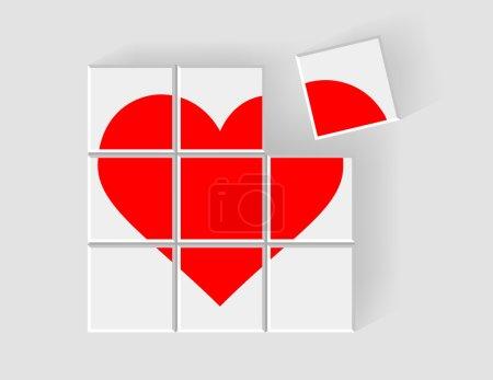 heart consists of children's blocks