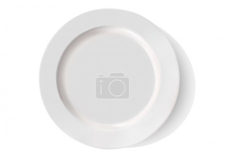 white porcelain plate on a white background