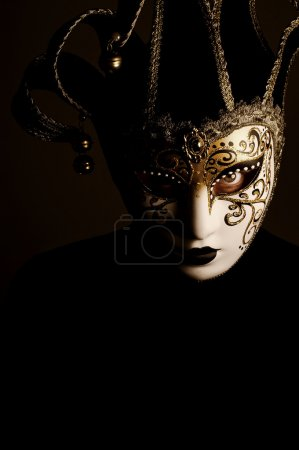 Portrait with Venice mask