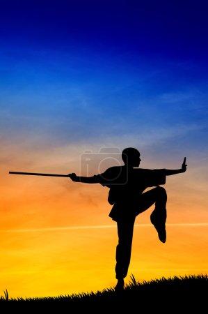 Shaolin pose at sunset...