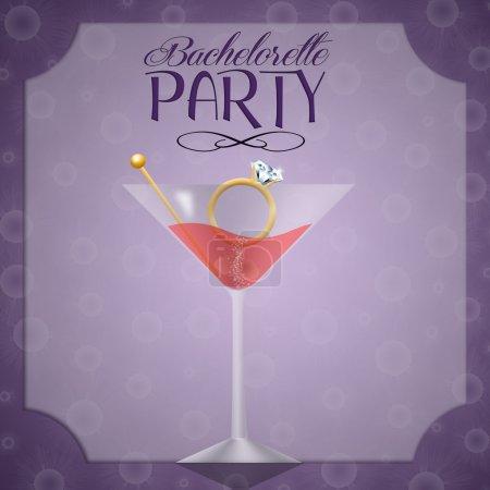 Illustration of Invitation for bachelorette party