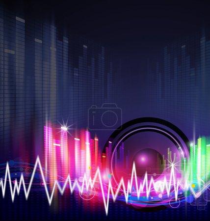 Photo pour Design de fond de musique - image libre de droit