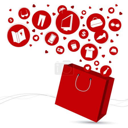 Shopping bag and fashion icon design