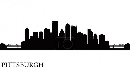 Pittsburgh city skyline silhouette background