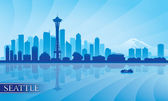 Seattle city skyline silhouette background