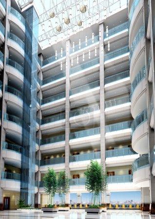 3d modern office building lobby