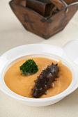 Čína delikátními sea slug a zeleniny