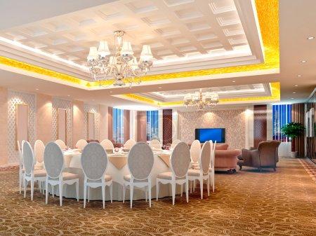 3d modern restauran