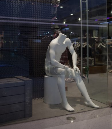 Photo for Mannequin in showcase, no clothes, dummy. - Royalty Free Image