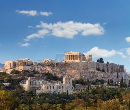 Photo for Parthenon, temple on the Athenian Acropolis, dedicated to the maiden goddess Athena - Royalty Free Image