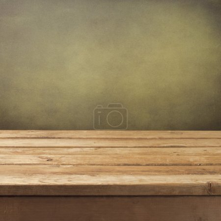 Retro background with wooden table