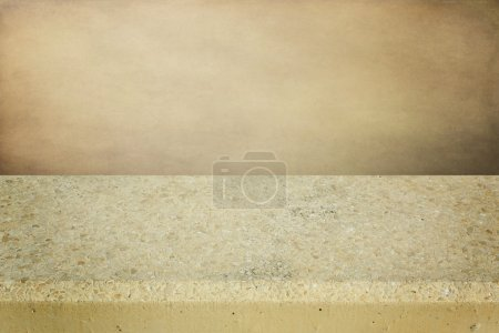 Background with concrete table for product montage