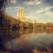 Retro style image of Central park