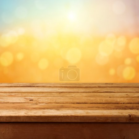 Wooden deck table background