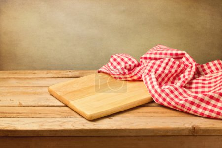 Cutting board and tablecloth