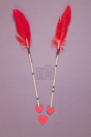 Valentine's arrows and heart shape