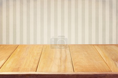 Background with retro striped wallpaper